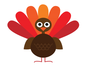 cartoon illustration of a turkey