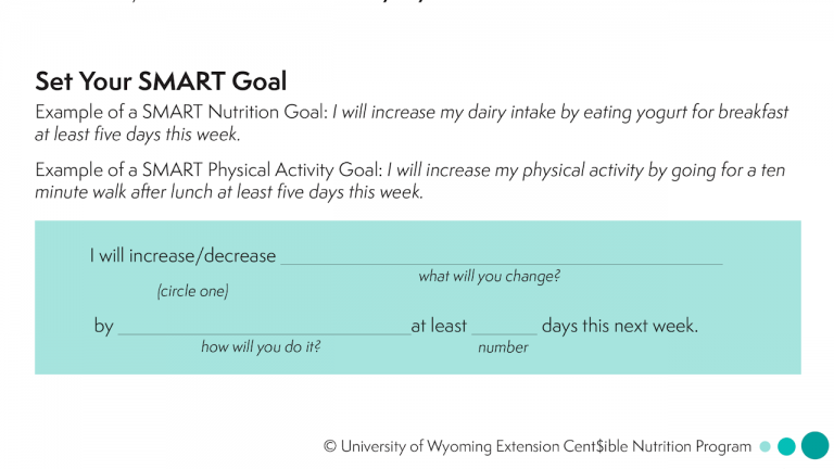 Smart goal worksheet see attached pdf